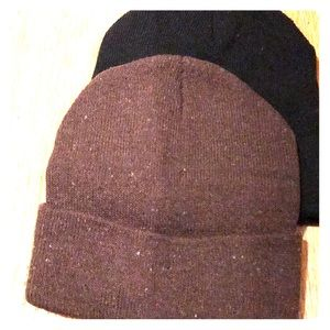 Other - 2 kids hats new knitt hat brown and black